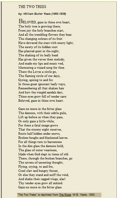 the two trees yeats