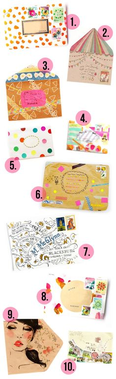 Pretty DIY envelope ideas! (plus 5 great reasons to write snail mail!)
