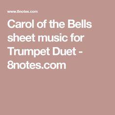 Carol of the Bells sheet music for Trumpet Duet - 8notes.com