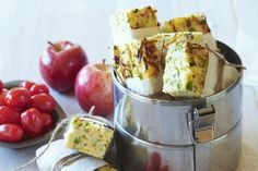 Finding something healthy for the lunchbox can be a chore.  Make it easy with a zucchini & rice slice.
