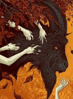 The Witch VVitch Sam Wolfe Connelly Movie Art Print Poster Mondo Horror Mystery Art And Illustration, Arte Horror, Horror Art, Fantasy Kunst, Fantasy Art, Dark Fantasy, Tag Art, Black Phillip, Satanic Art