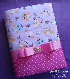 Bible Covers, Book Covers, Baby Kit, Ribbon Wrap, Make Photo, Journal Covers, Kids Bags, Fabric Covered, Fabric Crafts