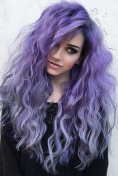 Violet Purple Ombre Hair Color ❤️ When you think about purple hair, you might love the look but hesitate if it fits your features. Violet Hair Colors, Lilac Hair, Hair Color Purple, Purple Ombre, Violet Ombre, Purple Shoes, Edgy Hair Colors, Short Lavender Hair, Pastel Goth Hair