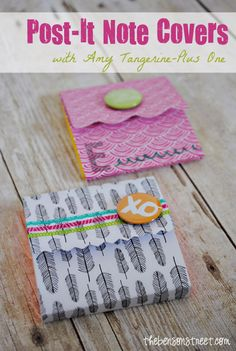 Amy Tangerine Post-It Note Covers - The Benson Street #postitnotes #papercrafts