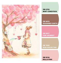 Ideas For Vintage Kids Room Paint Colors Paint Color Palettes, Colour Pallete, Color Combos, Kids Room Paint, Room Paint Colors, World Of Color, Color Of Life, Horse Themed Bedrooms, Color Harmony