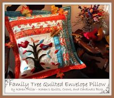 Family Tree Quilted Pillow - Free Quilting Tutorial