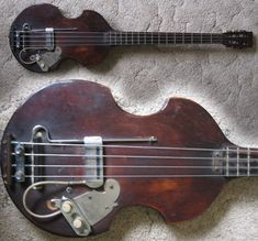 Guitar Blog: One-off vintage hand-made violin bass guitar