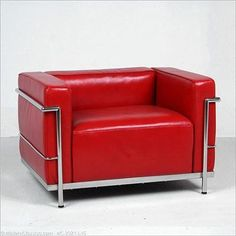 Le Corbusier- LC3 Grand Lounge Chair. Red is also a good option. A very good one, in deed.
