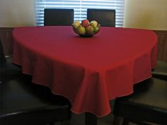 75 Apple Red Triangle Tablecloth For Triangle By KnotSewInnocent