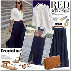how to wear maxi pleated skirt 11
