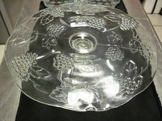MOVING SALE price reduced Vintage grape patterned clear