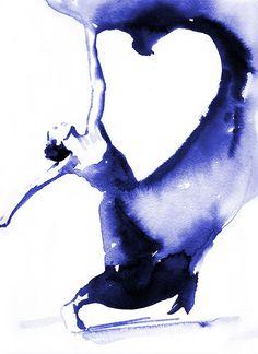 Zeitgenössische Tänzerin drucken, Farben Tänzerin Drucke, moderner Tanz, Tänzer, Tänzerin Grafik, Geschenk für Tänzer, Dance Art, Tanz Poster