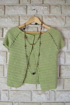 Crochet Woman, Love Crochet, Diy Crochet, Vintage Crochet, Crochet Top, Crochet Bolero Pattern, Crochet Jacket, Crochet Cardigan, Crochet Patterns