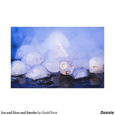 Ice and Dice and Smoke Canvas Print