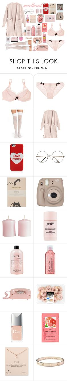 """""""Sem título #739"""" by myllenagrigori ❤ liked on Polyvore featuring Agent Provocateur, DKNY, Marc Jacobs, Rifle Paper Co, Fujifilm, H&M, philosophy, Avon, Christian Dior and NARS Cosmetics"""