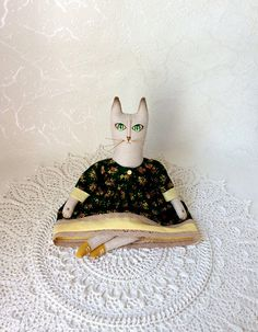 Rag doll Textile doll Interior Cat Interior doll Unique gift
