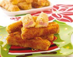 Palitos de queso y jamón