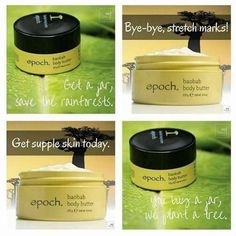 Get your Baobab Body Butter made from Shea Butter from the African Baobab Tree. Reduces stretch marks Moisturises skin all day Enhance the Resiliency of skin Beneficial antioxidants Soothes dry skin Moisturises skin of all ages. Nu Skin, Body Butter, Shea Butter, Nuskin Toothpaste, Best Skincare Products, Skin Products, Reduce Stretch Marks, Healthy Skin Care, Hair And Beauty