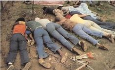 Victims of the Jonestown massacre, death by poisoned Flavor-Aid. Those refusing to drink the stuff were shot. Battle Of Tarawa, Jonestown Massacre, Famous Murders, Interesting History, Before Us, Criminal Minds, Serial Killers, True Crime, Colorful Pictures