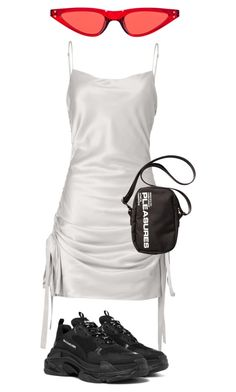 """Untitled #37"" by hannah29heath ❤ liked on Polyvore featuring self-portrait, Balenciaga and springdresses"