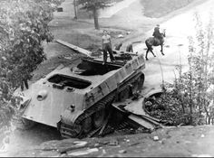 Gutted Panther by internal explosion.
