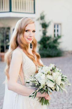 Half Updo, Wedding Flowers, Wedding Dresses, Floral Crown, Elegant, Headpiece, Wedding Hairstyles, Inspiration, Fashion