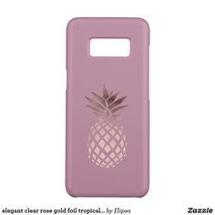 elegant clear rose gold foil tropical pineapple Case-Mate samsung galaxy s8 case
