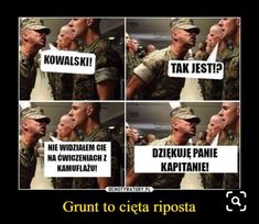 Grunt to cięta riposta Very Funny Memes, Wtf Funny, Funny Jokes, Best Memes, Best Quotes, Funny Lyrics, Take A Smile, Polish Memes, Really Funny Pictures