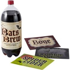 Shocktails Halloween 2-Liter Bottle Labels - Party City I'm not that crafty and this a cute and simple idea