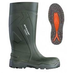 Dunlop Purofort+ Safety C762933 Green Slip On  Wellington Boots PU - £49.99