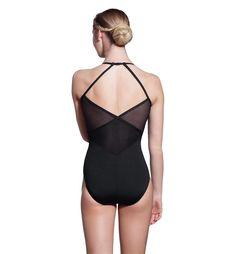 リュリアビィ V字ネックストライプメッシュキャミソールレオタード LUF441 #レオタード #バレエ #リュリ #LulliDancewear #ballet #leotard #balletskirt