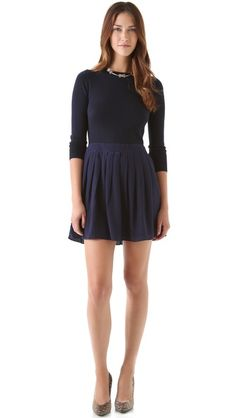 AHHHH, this would be awesome!!  Shoshanna Combo Pleated Sweater Dress