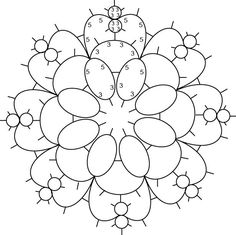 Tatted in the round, with either one shuttle or needle and a ball. Do  not cut thread between rounds. Click the chart for larger size.  Abb...