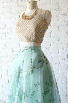 Dew Skirt Poppy Lane - - Dew Skirt Poppy Lane – Source by orktuness - Indian Gowns Dresses, Indian Fashion Dresses, Dress Indian Style, Indian Designer Outfits, Indian Outfits, Skirt Fashion, Indian Wear, Indian Attire, Designer Dresses