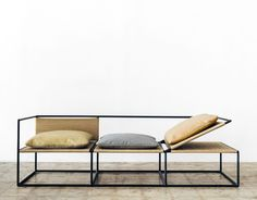 The 2017 Hot List, Part IV Sight Unseen is part of Furniture design modern - Get to know our fourth set of 2017 American Design Hot List honorees here Home Studios, Kin & Company, NUN and Office GA Iron Furniture, Modular Furniture, Plywood Furniture, Steel Furniture, Furniture Upholstery, Home Office Furniture, Industrial Furniture, Cheap Furniture, Pallet Furniture
