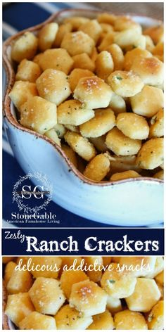 ZESTY RANCH CRACKERS These are so delicious and addictive!!!