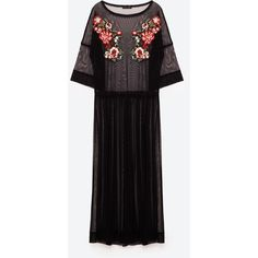 EMBROIDERED TULLE DRESS - NEW IN-WOMAN | ZARA Cyprus ($22) ❤ liked on Polyvore featuring dresses