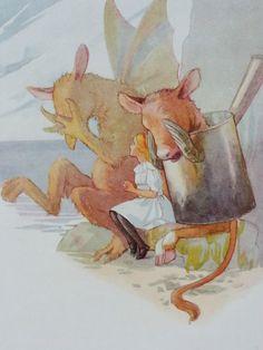 Alice in Wonderland The Gryphon Margaret Tarrant Original Fantasy Print 1922