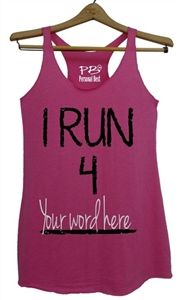 Personalized running tank top for women-I Run 4 Chocolate!!!! or ice cream?