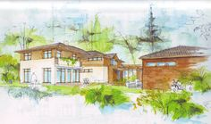 sketch of a family house Studios, Sketches, Pictures, House, Painting, Image, Design, Art, Craft Art
