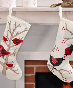 Another great find on #zulily! Bird Christmas Stocking - Set of Two #zulilyfinds