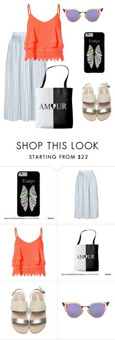 """""""Romantic Afternoon !!"""" by oursunnycdays ❤ liked on Polyvore featuring Topshop, Glamorous and Fendi"""