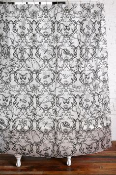 """""""Nature Damask Shower Curtain"""" I can get  lost starring into the nature print, I really love the simplistic illustrations."""