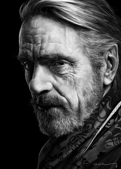 Jeremy Irons x Cyrill Matter Famous Portraits, Celebrity Portraits, Famous Men, Famous Faces, Jeremy Irons, Face Study, Black And White Portraits, British Actors, Interesting Faces