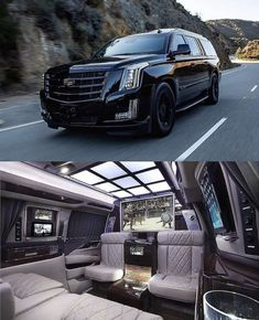 Cadillac Escalade 💎📸 by Luxury Sports Cars, Top Luxury Cars, Sport Cars, Cadillac Escalade, Escalade Esv, Fancy Cars, Cool Cars, Luxury Van, Expensive Cars