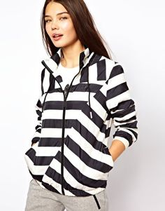 Adidas Striped Hooded Jacket from ASOS