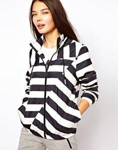 Adidas Striped Jacket With Hood