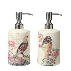 Este bello dispensor de crema es ideal para la mamá que cuida de su piel.