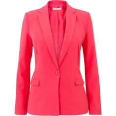 Blazer roze ❤ liked on Polyvore featuring outerwear, jackets, blazers, red blazer, red jacket, blazer jacket and red blazer jacket