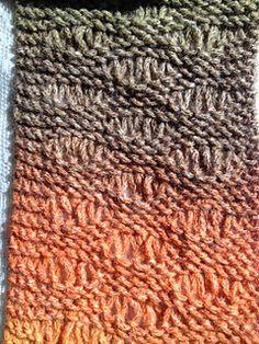 Seafoam stitch loom knit